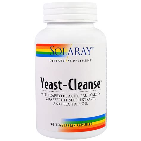 Yeast Fungal Detox by Solaray Yeast Cleanse 90 Vegetarian Capsules Iherb