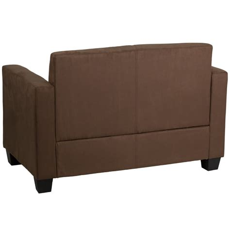 brown microfiber loveseat mfo primo collection chocolate brown microfiber loveseat