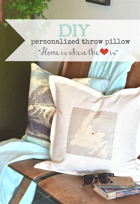 diy bed rest pillow diy personalized throw pillow home is where the heart is