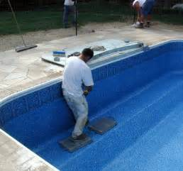 inground swimming pool liners vinyl installing repair