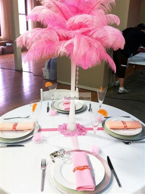 ostrich feather centerpieces for sale feather plume palm tree baby pink ostrich feather