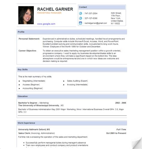 create resume free learnhowtoloseweight net