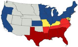 map 1861 union and confederate states