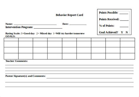 Report Card Template Word sle progress report card template 11 free documents