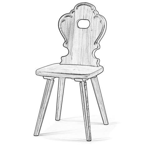 sedie grezze legno sedia grezza stile tirolese e schienale decorato w5940