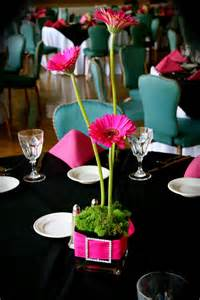 pink and black centerpieces for weddings pink black wedding jeanie gorrell floral design s