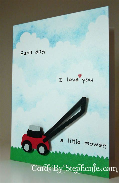 how to a each day each day i you a mower cards by