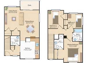 Three Bedroom Townhouse Floor Plans Savannah Heights Se Dc One Two Amp Three Bedroom Apartments