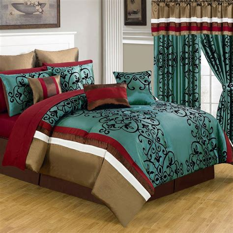 24 piece bedding set lavish home eve green 24 piece queen comforter set 66 00013 24pc q the home depot