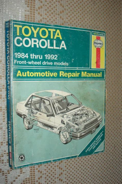 service and repair manuals 1992 toyota tercel navigation system sell 1984 1992 toyota corolla service manual shop book 91 90 89 88 87 86 85 motorcycle in carl