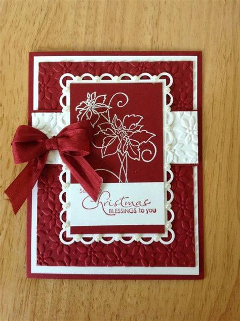 Handmade Cards Stin Up - stin up handmade card and white poinsettias