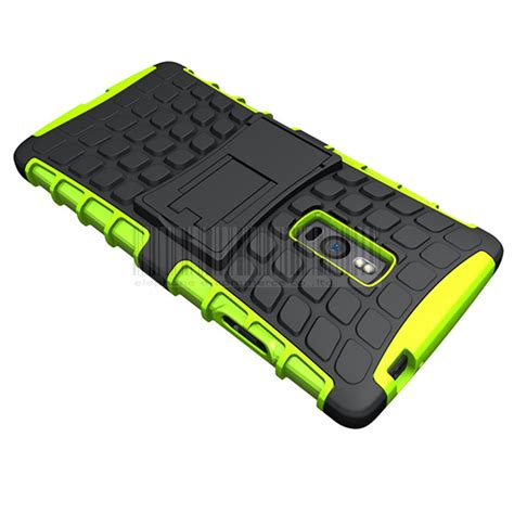 Oneplus Two 2 Rugged Shock Proof Armor Hybrid Soft Merah armor heavy duty hybrid impact stand cover skin