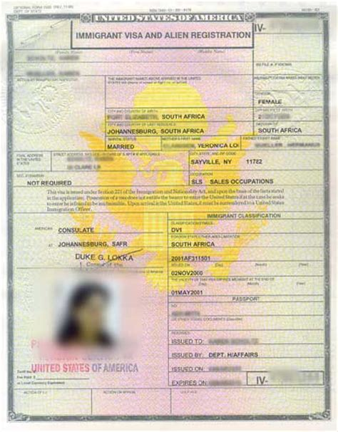 Immigration Registration Card Template by Usa Greencard Center Washington Dc United States Gov