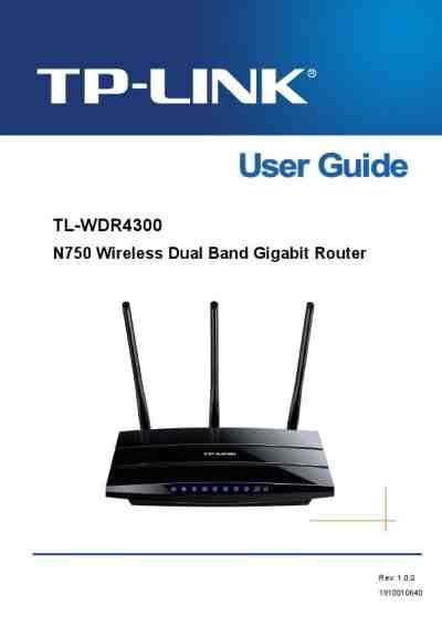 Router Tp Link N750 tp link tl wdr4300 n750 router modem manual for free now 364ee u manual