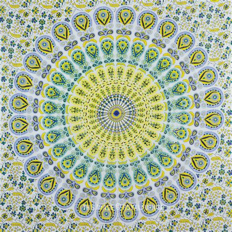 Floor And Decor Coupon twin size white psychedelic hippie bohemian trippy
