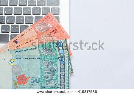 Laptop Apple Ringgit Malaysia stock images royalty free images vectors