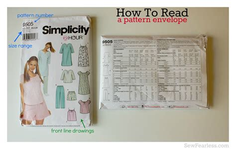sewing pattern guide pattern cover wordreference forums