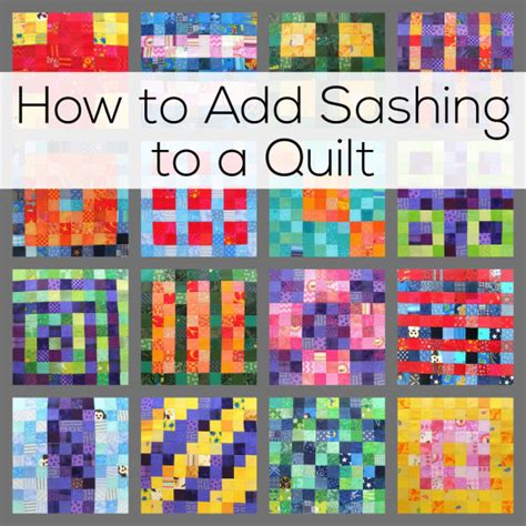 Sashing A Quilt by How To Add Sashing To A Quilt Shiny Happy World