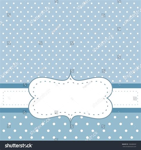 blue cute wallpaper vector sweet blue dots card invitation white stock vector