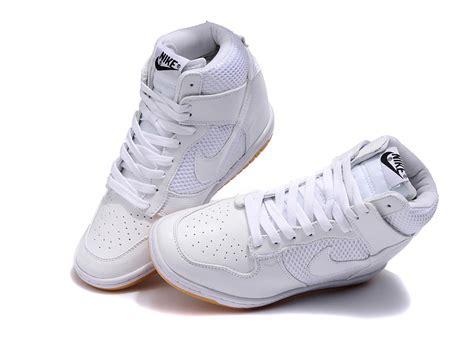 nike wedge sneakers white nike dunk sky high womens wedge sneakers white 579763 100
