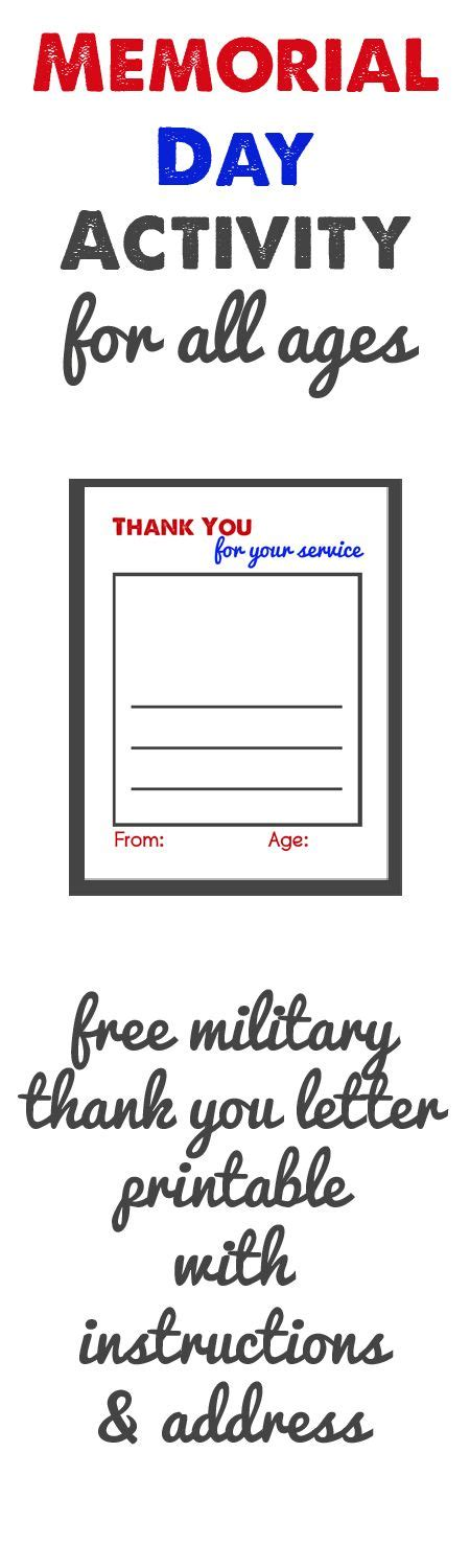 thank you army card template thank you letter template home school