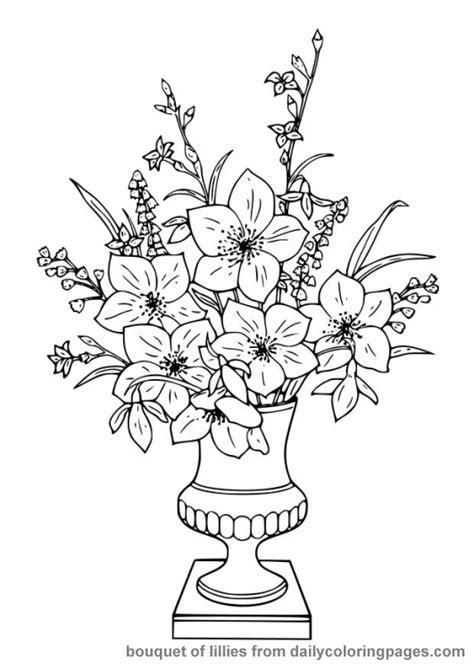 Free Flower Coloring Pages For Adults Flower Coloring Page Coloring Pages For Flowers