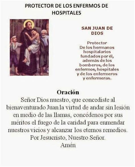 oracion a santa lucia patrona de la vista san juan de dios protector enfermos hospitales