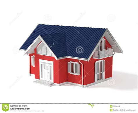 white house real estate 3d real estate stock illustration image 70062416