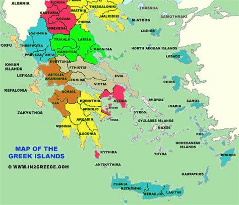 greek islands greece map