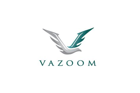 vazoom v bird logo design logo cowboy