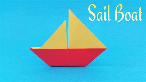 sailboat easy how to make a easy paper quot sail boat quot origami tutorial