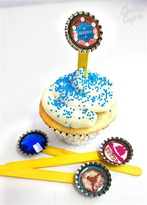 Bottle Cap Cupcake Topper Ideas From Bottle Cap Co