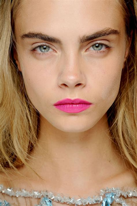 cara delevingne pink lipstick bright bold lipstick colours with cara delevingne genie