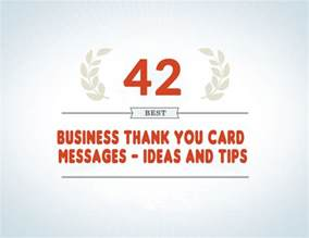 business card messages 42 best business thank you card messages sles tips