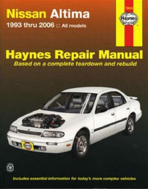 nissan bluebird altima 1993 2006 haynes service repair