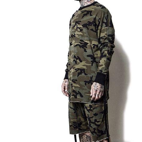 yeezy oversized camo hip hop justin bieber clothes