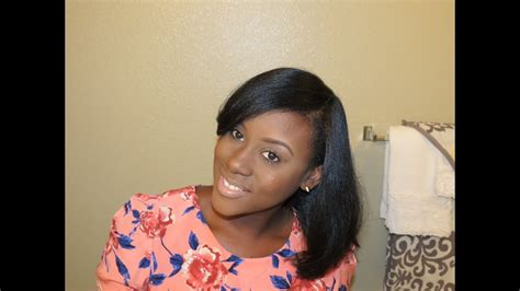 how i maintain my straightened natural hair length preview youtube