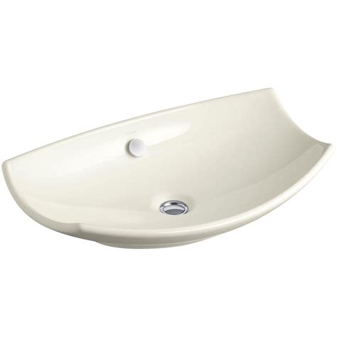 Vessel Sink With Overflow by Kohler Leaf Fireclay Vessel Above Counter Bathroom Sink In