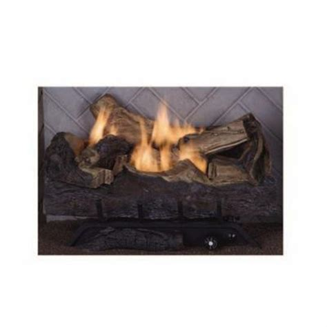Home Depot Fireplace Logs by Emberglow Melbourne Oak 24 In Vent Free Gas Fireplace