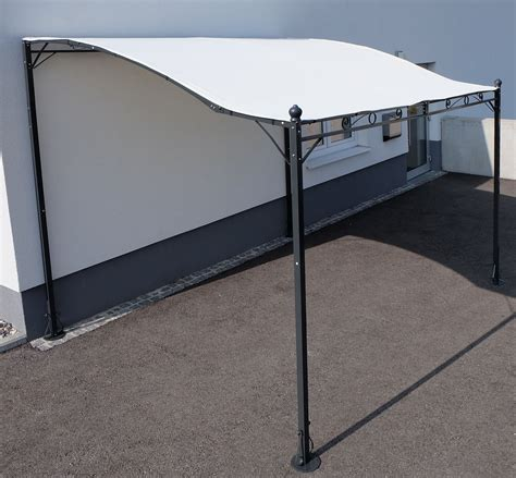 wand pavillon metall wand anbau pavillon 3 x 2 5 meter model siena 7107 as s