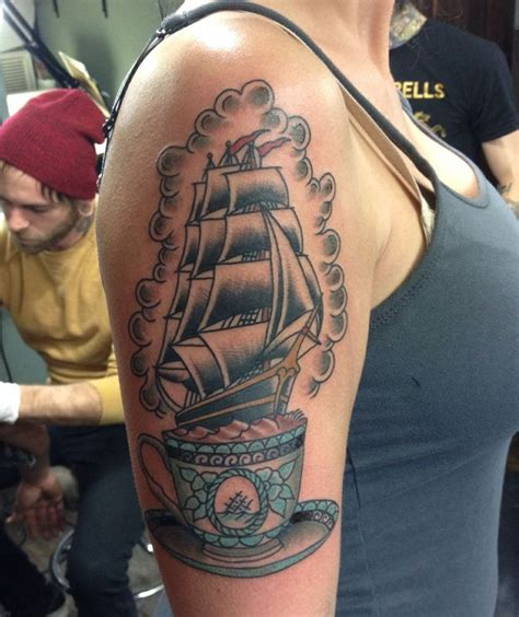 ryan thompson tattoos american traditional storm in a teacup tattoo by ryan