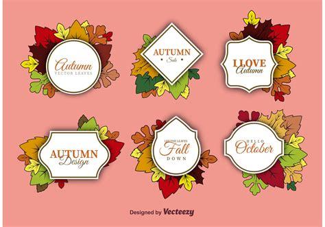 Beschriftung Laubblatt by Autumn Label Vectors Free Vector Stock
