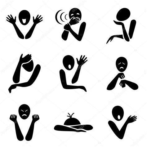 imagenes blanco y negro personas iconos de emociones diferentes archivo im 225 genes