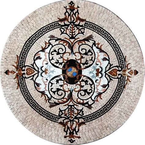 medallion mosaic pattern tile stone art floor tabletop tabletop mosaics and stone