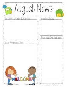 free preschool newsletter templates newsletter templates free preschool images