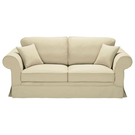 cotton sofas 3 seater cotton sofa in putty victoria maisons du monde