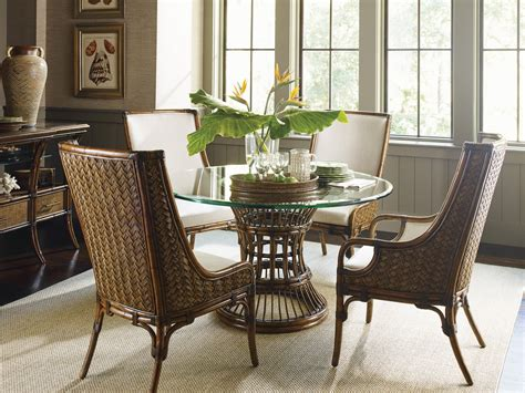 tropical rattan dining room sets home design ideas