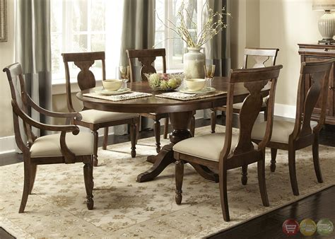 Rustic Formal Dining Table Rustic Oval Pedestal Table Formal Dining Furniture Set Table Dining Sets Asuntospublicos