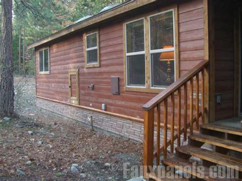 house skirting designs log cabin with brick underpinning joy studio design