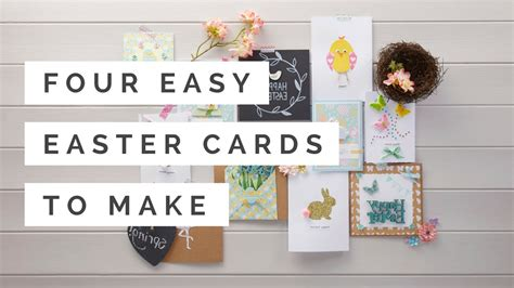 easy easter cards to make four easy easter cards to make hobbycraft